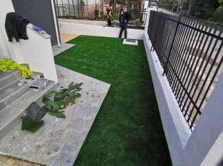Priprema podloge i polaganje umjetne trave visine 3cm